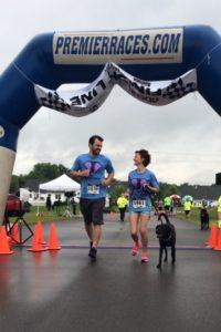 JG with josh and dog running 5K post injury